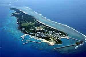 久高島上空写真